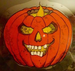 leering pumpkin